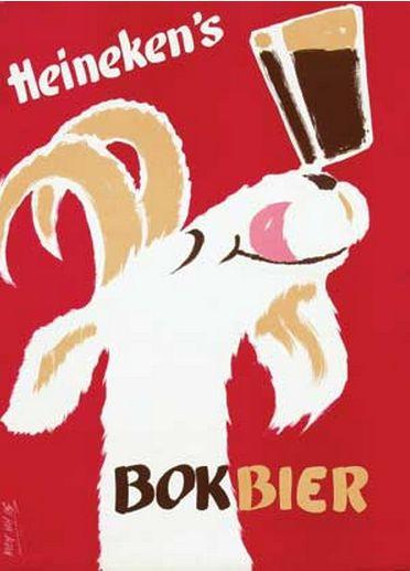 Koen van Os (1910-1983), ca. 1955, Heineken's Bokbier.