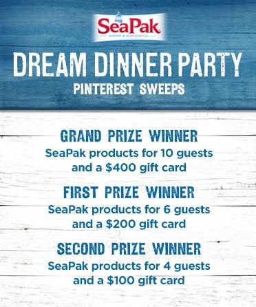 SeaPak Pinterest Sweepstakes Prizes