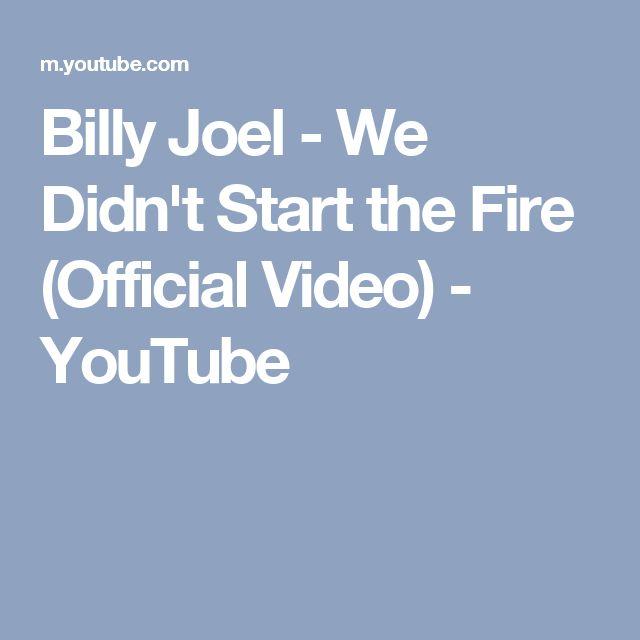 We Didn T Start The Fire Billy Joel: 17 Best Ideas About Billy Joel On Pinterest