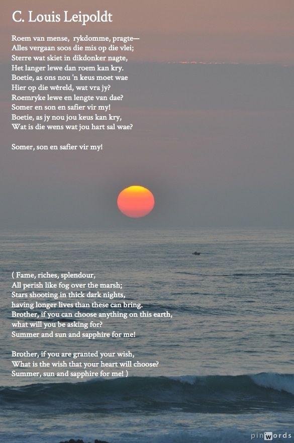 C Louis Leipoldt - Afrikaans poetry