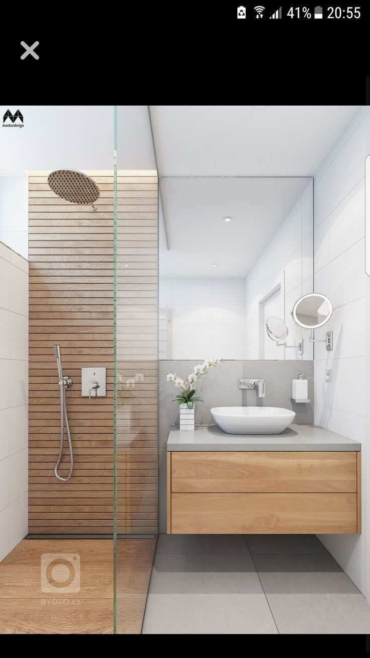 Kleine badkamer #bathroom | #wood | #smallspaces …