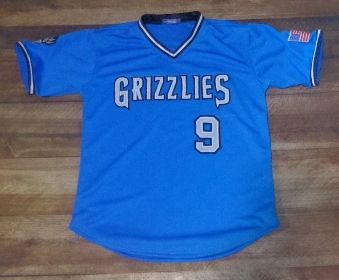 Have a look at this custom jersey designed by Grizzlies Baseball and created at Universal Athletic in Midvale, UT! http://www.garbathletics.com/blog/grizzlies-baseball-custom-jersey/ Create your own custom uniforms at www.garbathletics.com!