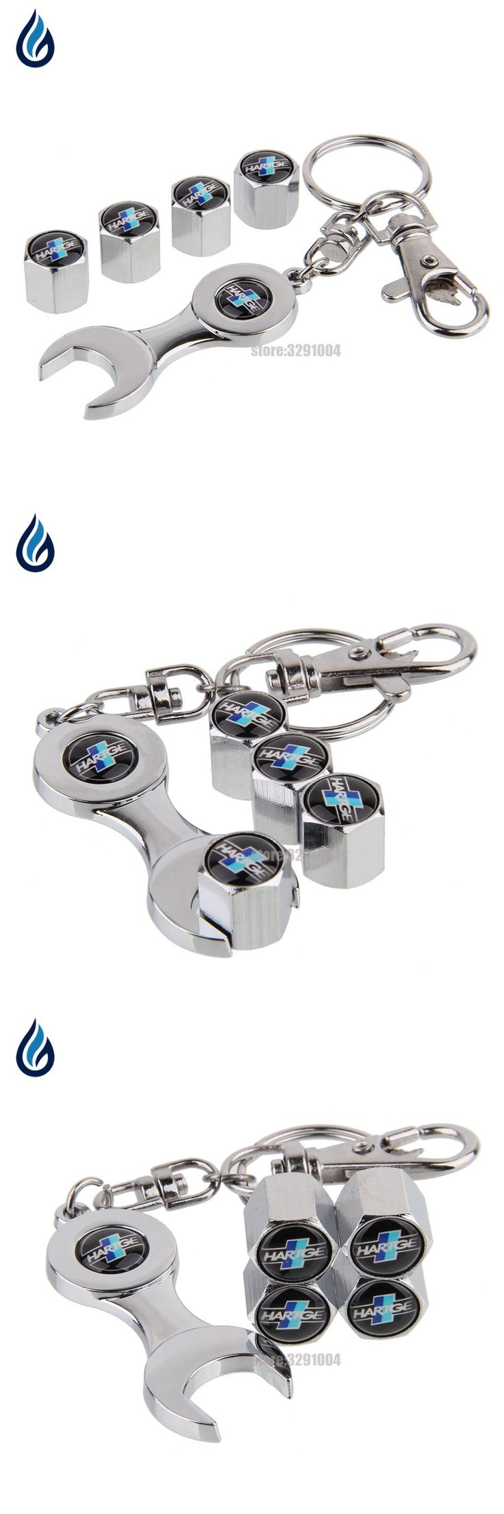 Car Wheel Tire Stems Caps Cover With Wrench KeyChain For BMW HARTGE Logo E46 E39 E36 E90 E60 F30 X5 E53 E34 F10 E30 X5 E70 F20