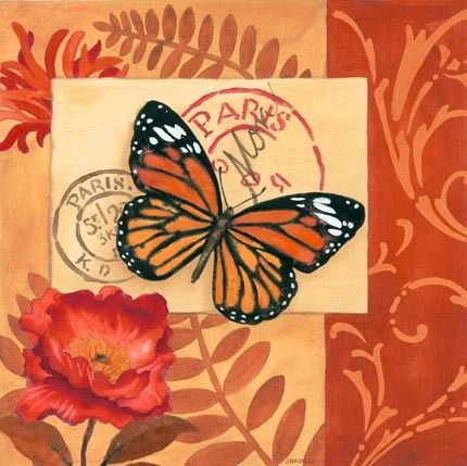 Orange Poste Butterfly by Jennifer Brinley | Ruth Levison Design