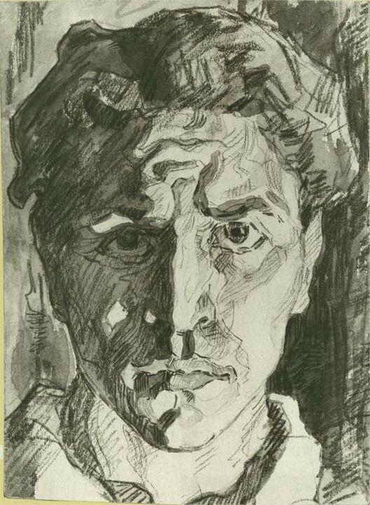 Alexander Deïneka, autoportrait 1916