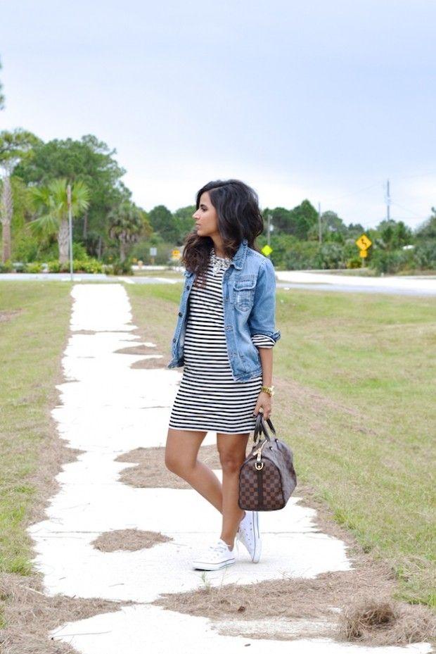Denim Jacket   Must Have for Spring/Summer. And striped dresses!