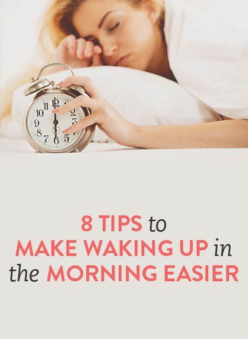 8 tips to make waking up in the morning easier