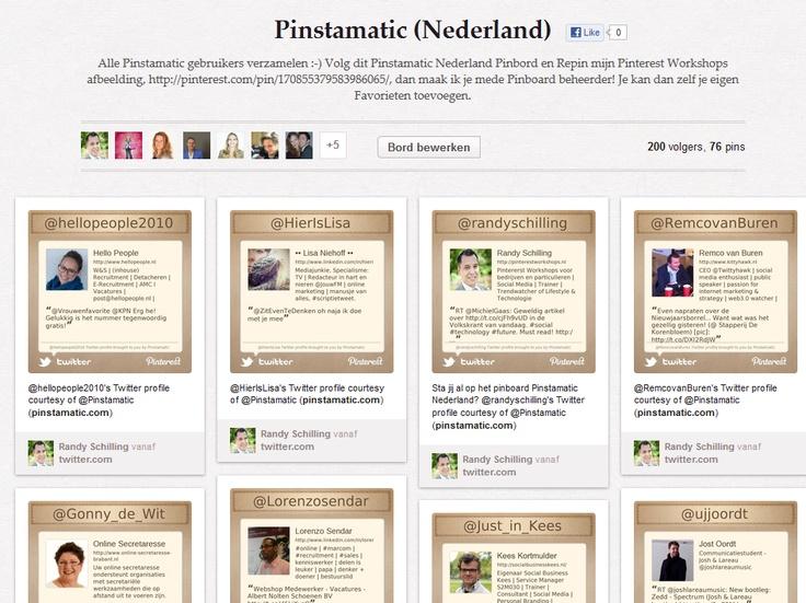 Alle Pinstamatic gebruikers verzamelen :-) Volg dit Pinstamatic Nederland Pinbord om je netwerk te vergroten!