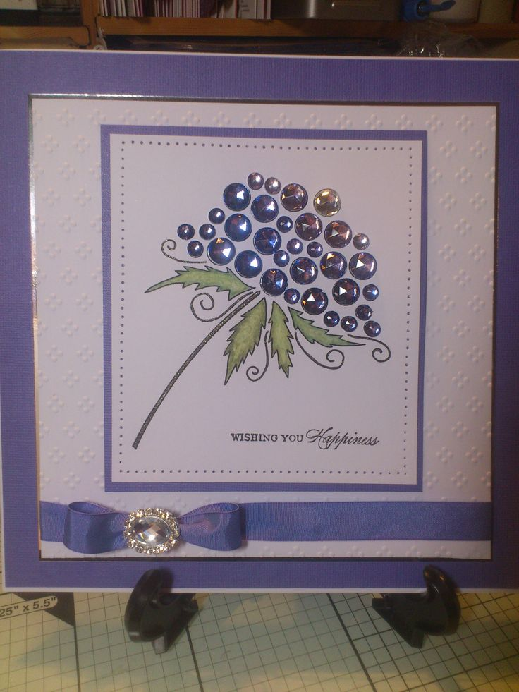 Woodware Bubble Bloom - Birthday card