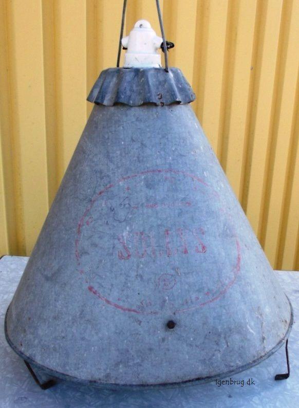 Industri lampe i zink