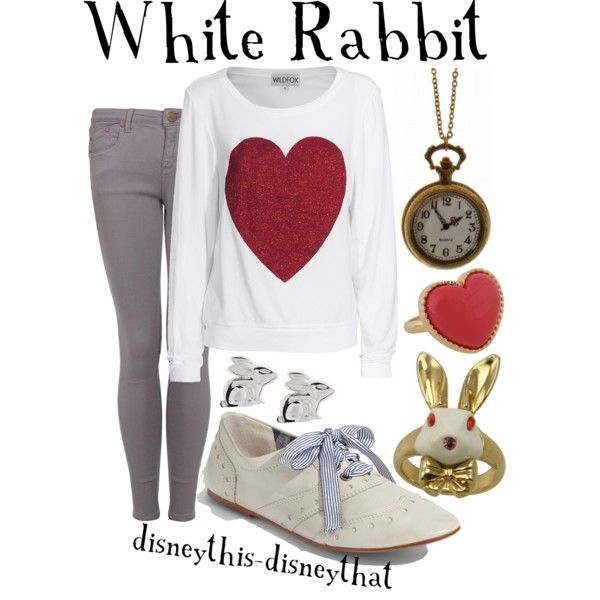 White Rabbit, created by disneythis-disneythat on Polyvore
