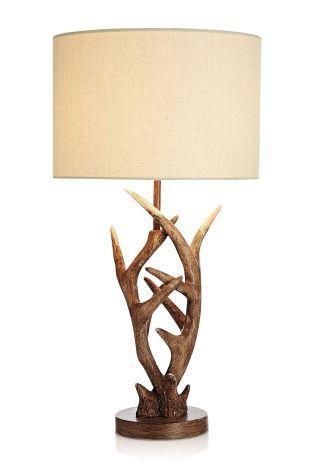 Buy Antler Natural Table Lamp from the Next UK online shop - http://centophobe.com/buy-antler-natural-table-lamp-from-the-next-uk-online-shop/ -