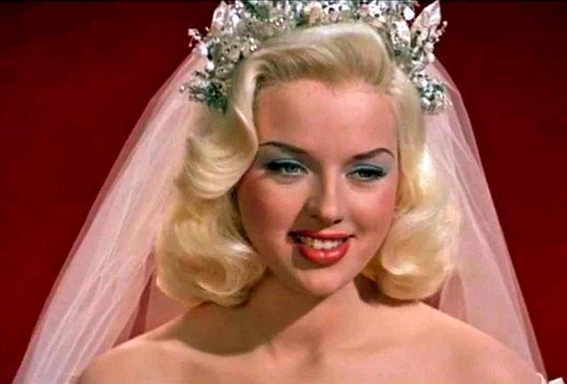 Diana Dors as (Vintage) Bride. I love her hair