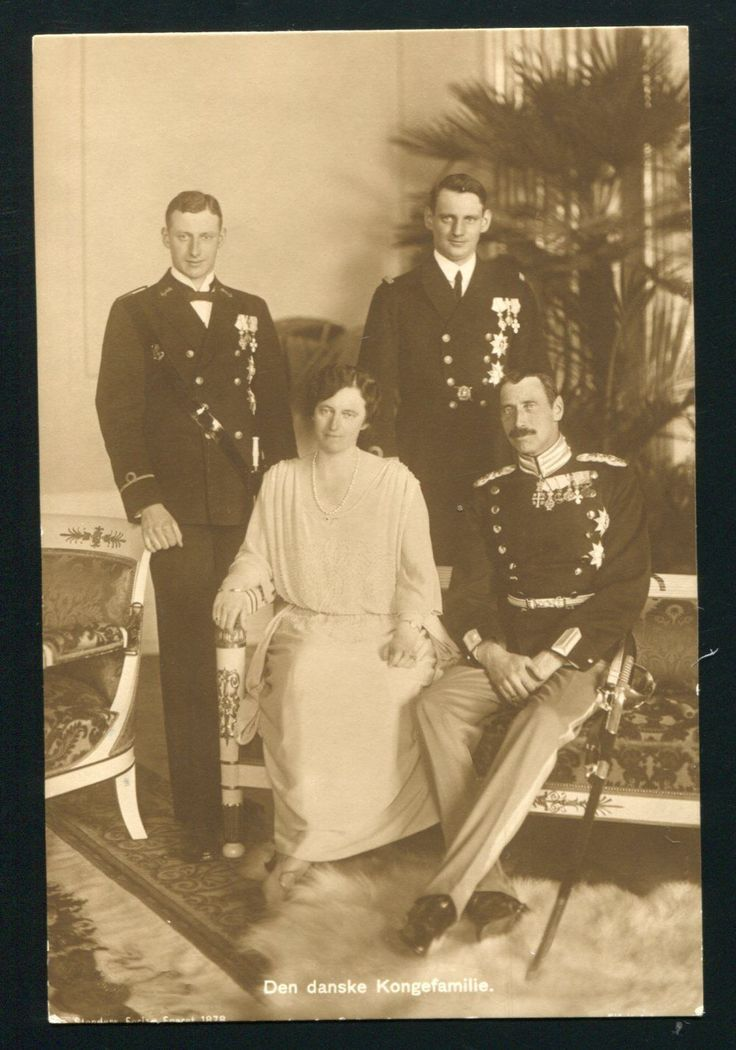Alexandrine Queen of Denmark, King Christian X and sons.