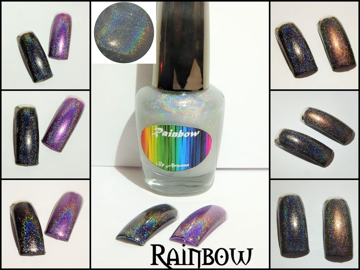 Rainbow, By Arwenn holographic top coat