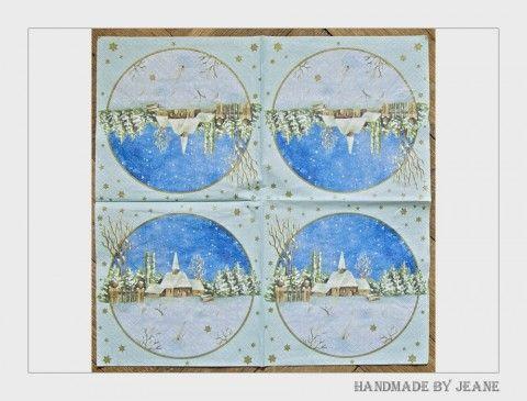 ubrousek s kostelíčkem sníh strom zima vánoce hvězda ubrousek kostel stromek stromeček plot hvězdička kostelíček kostelík