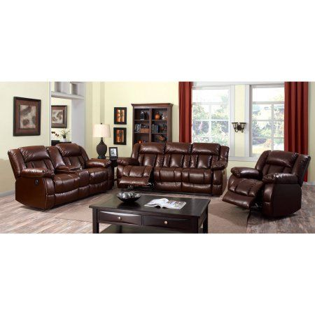 Furniture of America Jolyn Transitional Power Assist Loveseat Recliner, Brown