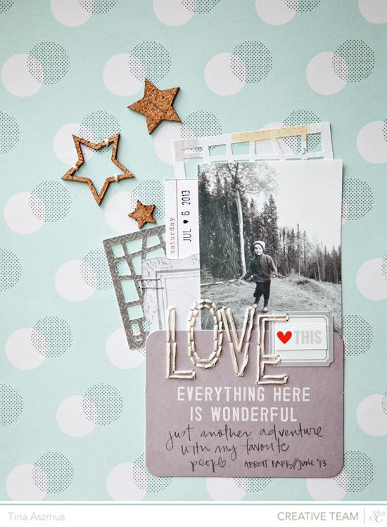 #papercraft #scrapbook #layout    L O V E by lifelovepaper at @Studio_Calico