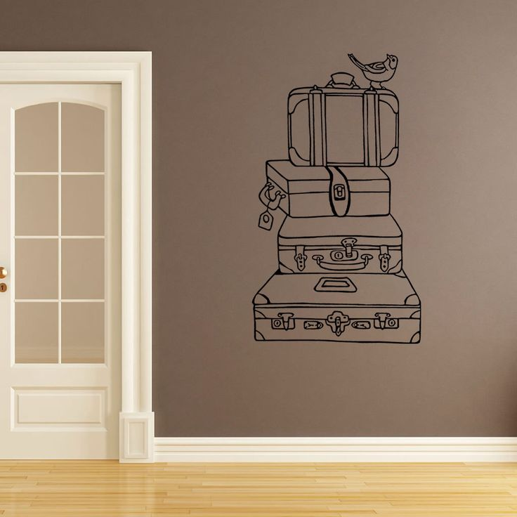 Wall Decal Vintage Suitcases Bathroom Wall Stickers Bedroom Wall Decal Kid S Bedroom Wall Decal Wall Art Wanderlust Travel Decal