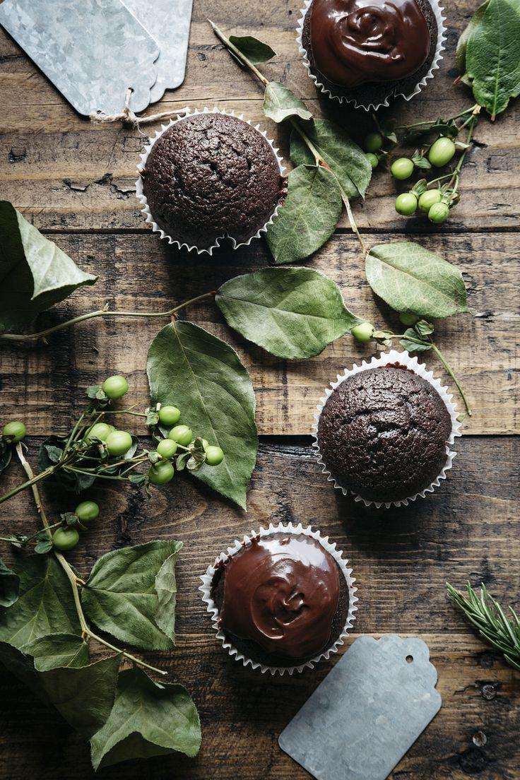 dark chocolate espresso cupcakes (gluten-free)
