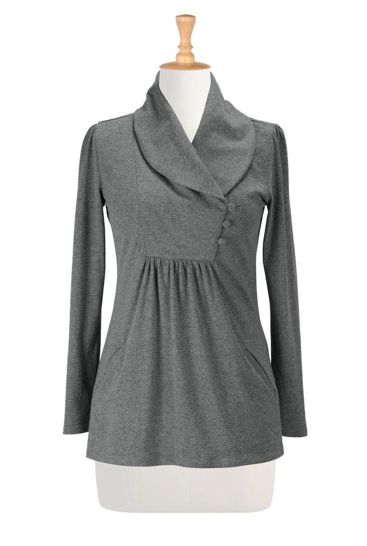 Women's designer clothing - Women's Blouses - Ladies Going Out Tops, Plus Going Out Tops, Halter Tops -   eShakti.com