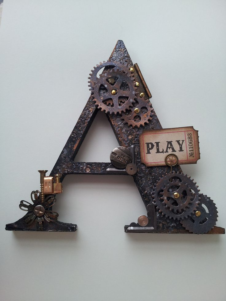 Steam Punk can be as subtle as the accessories...check out these letters.