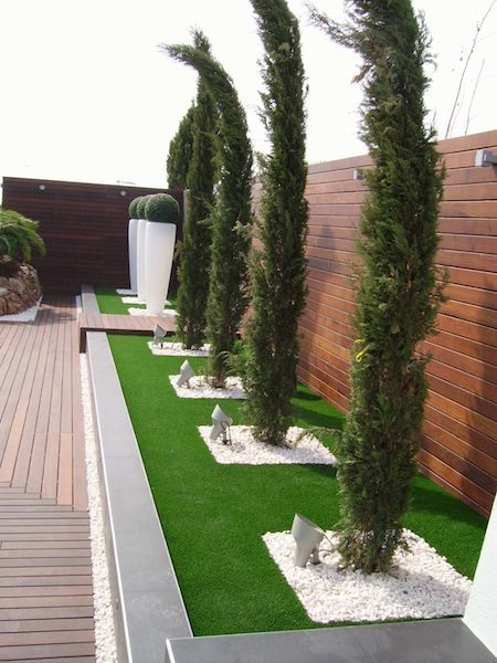 M s de 1000 ideas sobre dise o de jardin en pinterest - Colocar cesped artificial sobre terreno natural ...
