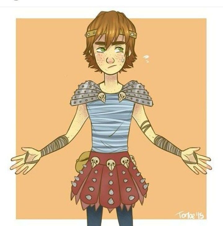 When Astrid's wants to play dress-up < Hiccup is not pleased. But this is hilarious. :)