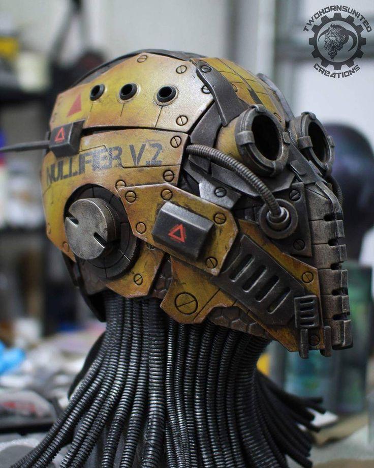 Almost done! Just needs LEDs :) #orginaldesign #originalcharacter #cyberpunk #helmet #cosplay #prop #evafoam #mask #art #robot #foamcraft #foamsmith #scifi