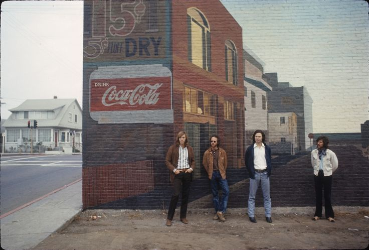 "Henry Diltz photographed the Doors' ""Morrison Hotel"" album cover. The record label hired Diltz in the late 1960s to do a publicity shoot. He followed the Doors around Venice, photographing them. Henry Diltz / Morrison Hotel Gallery"