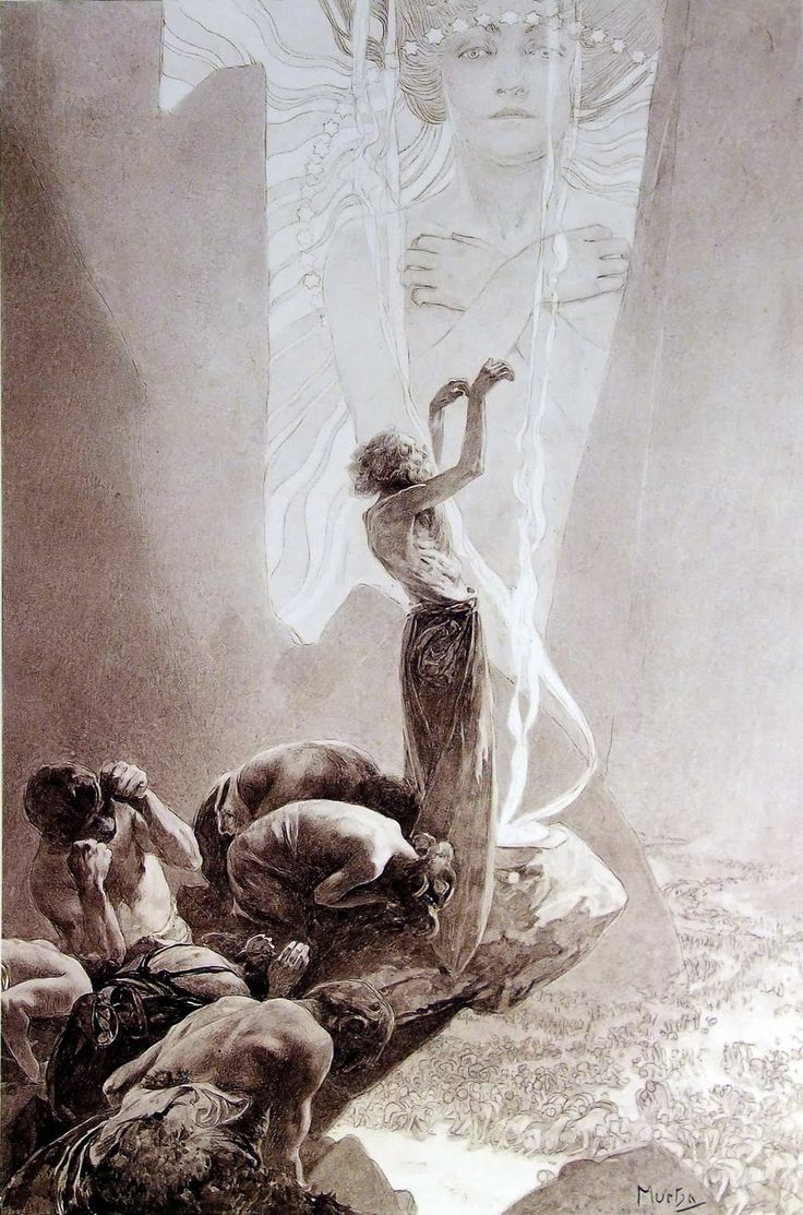 Le Pater (Part I) by Alphonse Mucha