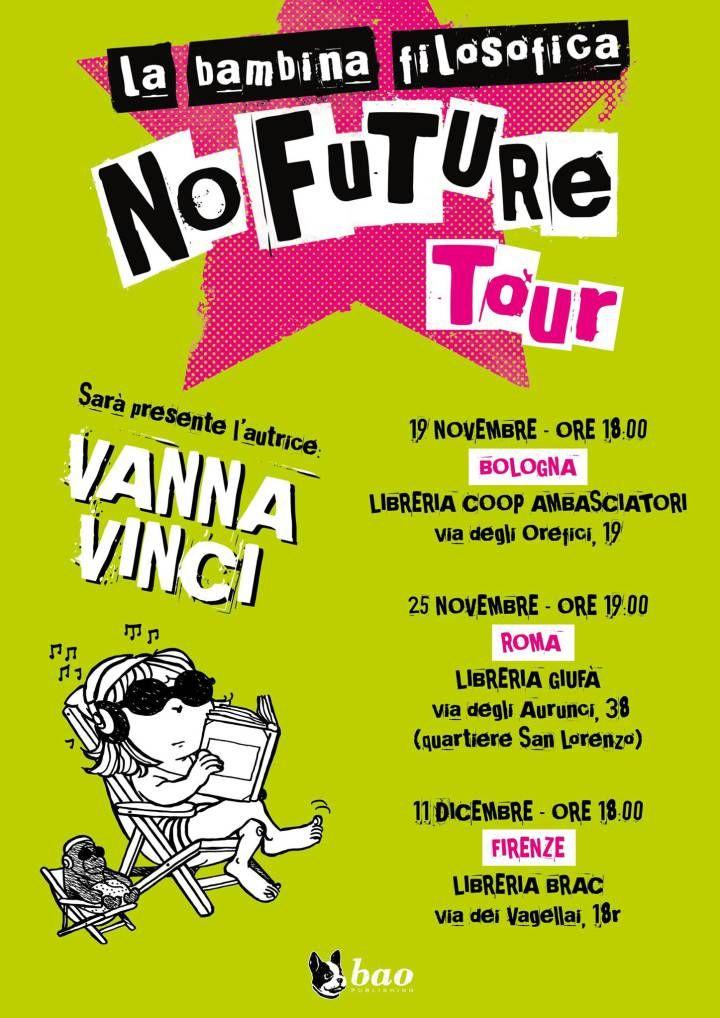 """Bao Publishing: le città e le date del """"No Future Tour"""" di Vanna Vinci"""