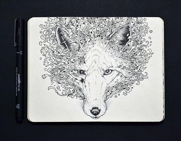 Illustrator Creates Pop-Culture Doodles In His Moleskine Notebook