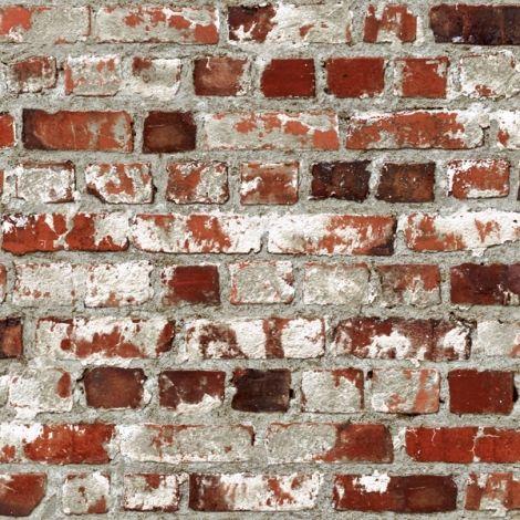 Papier peint briques rouge Ulting