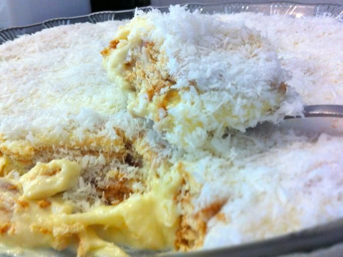 Sobremesa Gelada - Receita Sobremesa : Pavê de coco de Fabiola Bianco