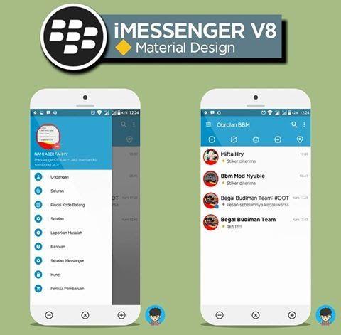 Kumpulan iMessenger Mod v3.0.1.25 Terbaru : BBM masih menjadi pilihan nomor satu bagi para pengguna chatting online di dunia, karena fitur dan kegunaan yang