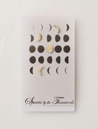 Moon Phase Stud Earrings   Erica Bradbury   Species By The Thousands