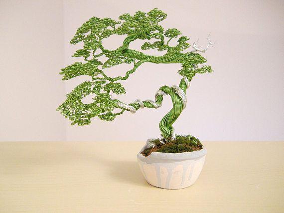 Alambre de Bonsai escultura del árbol de alambre Shari