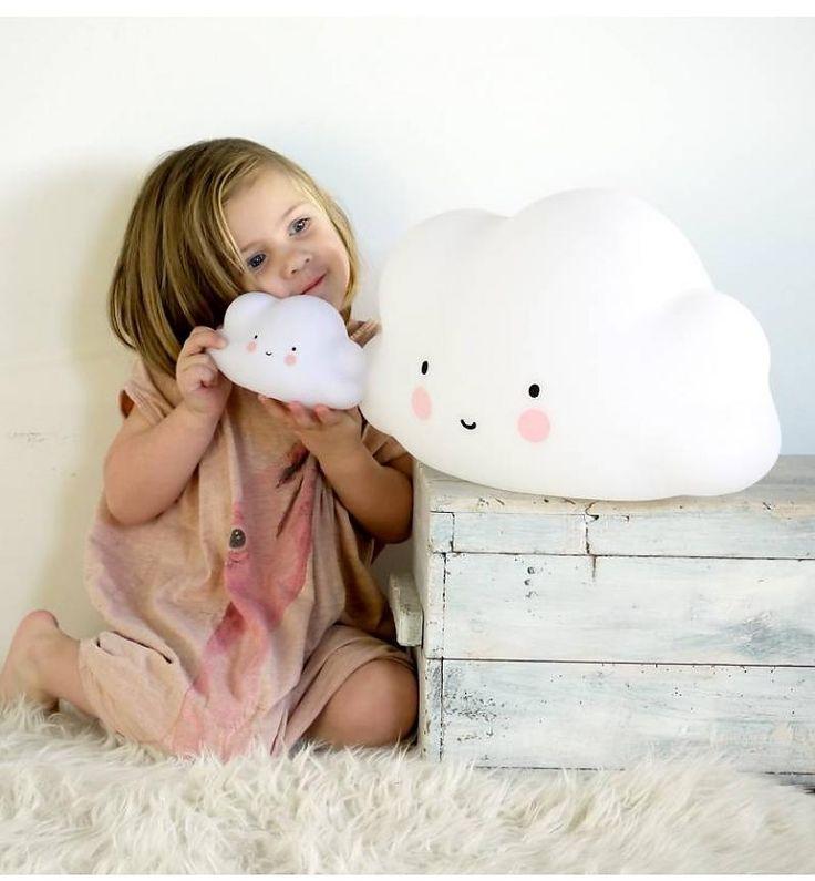 Светильник в виде облака A Little Lovely Company, маленький, белый