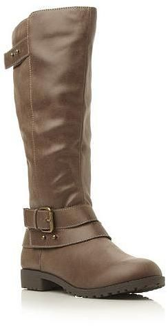 Womens khaki brown knee high boots from Dune - £79 at ClothingByColour.com
