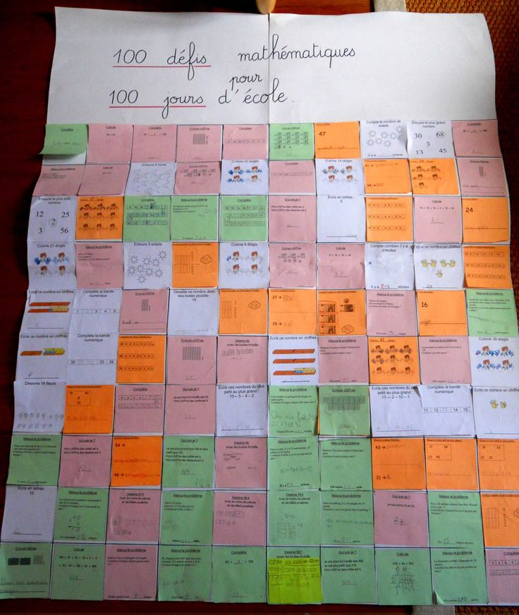 100 défis maths cycle 2