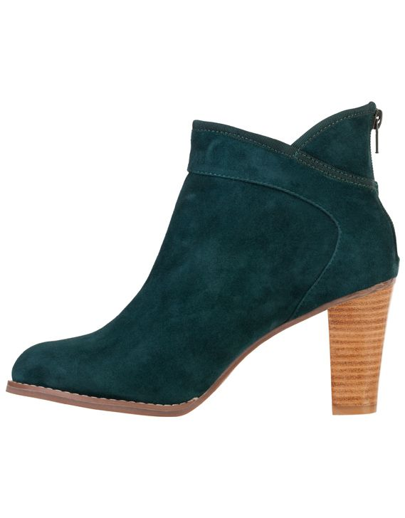 Valeria Grossi green suede boot.  Gorgeous colour.