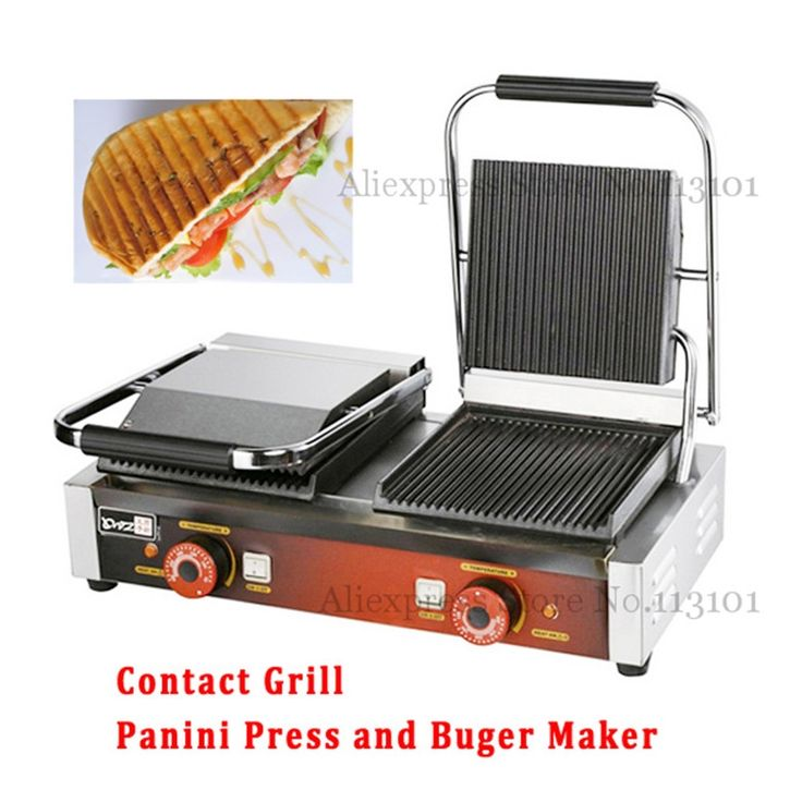 248.60$  Watch here - http://alimua.worldwells.pw/go.php?t=32681001860 - Griddle Contact Counter-top Grill Panini Press Griddle with Double Heads Electric Upscale for Commercial Purpose
