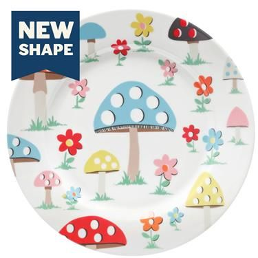 A cheerful plate to brighten up breakfast. We won't mind if you use it for lunch or dinner as well though.