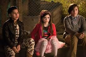Kevin Hernandez, Landry Bender, and Max Records as RODRIGO, BLITHE, and SLATER in The Sitter.