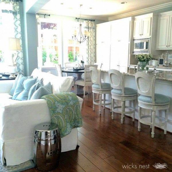 White Kitchen Family Room 44 best family room kitchen combo addition images on pinterest