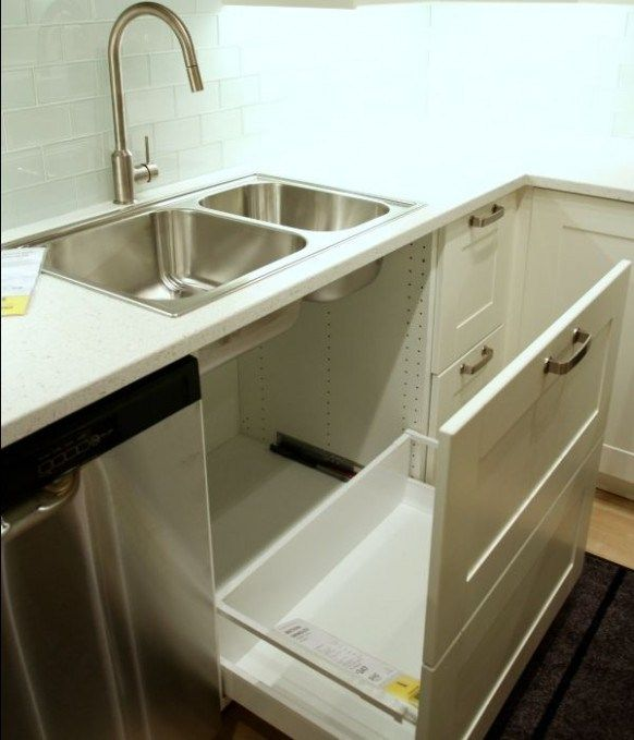 how to leave ikea kitchen sink cabinet