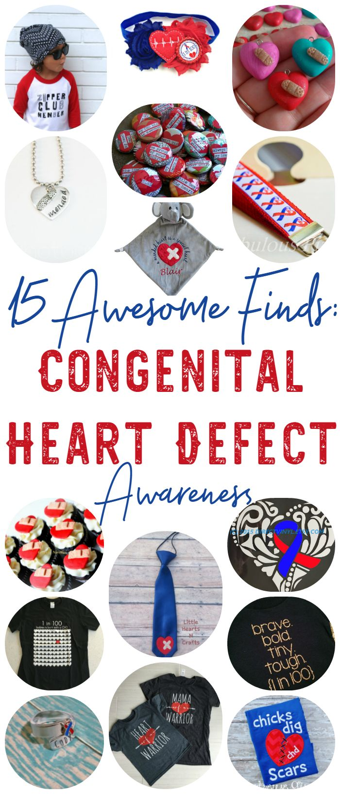 Support Congenital Heart Defect Awareness: 15 Awesome Finds - I found some super awesome things for our heart babies, Mom, Dad, and anyone else that loves showing their support for Congenital Heart Defect Awareness!