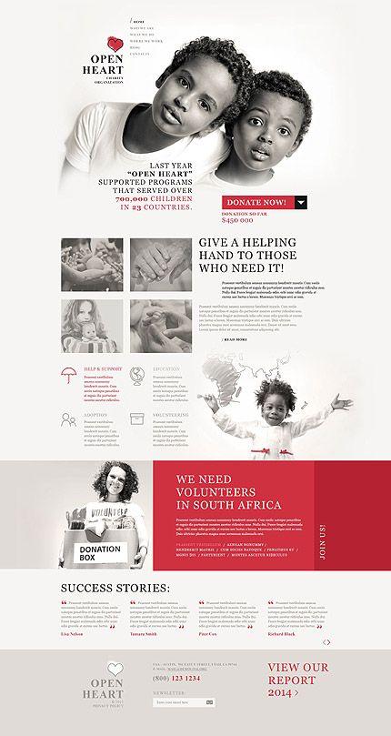 Tema De WordPress Responsive para Sitio de Caridad