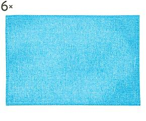 Set di 6 tovagliette in juta Jeans turchese - 45x30 cm